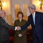 .@JohnKerry with @JZarif, and Baroness #Ashton in Vienna at #IranTalksVienna http://t.co/AdI1u0xHGj