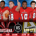 Come see the Cajuns go for their 7th straight win at 1 p.m. on Saturday at Cajun Field as they take on App State!!! http://t.co/dMnkHMvPGw