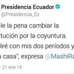 """""""@MonchiDingo: Oiga @MashiRafael porque hace borrar el tuit de la @Presidencia_Ec menos mal capture la imagen. http://t.co/UKAwSGQvEV"""".."""