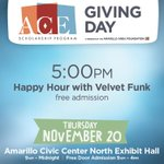 Happy hour plans made. @ACEGivingDay is celebrating 20 years of ACE w/ a cash bar & live music tonight #AmarilloGives http://t.co/0F4Nxv9DbM