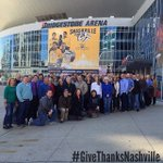 The WOC staff, @allenjacksonwoc & @angusbuchan went to @BrdgstoneArena today to pray and tour! #GiveThanksNashville http://t.co/5Or55AmL5u
