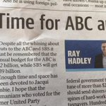 Budget problems solved! Ray Hadley found more than $4 billion in our budget I didnt know was there. http://t.co/BzwSGHIsAQ