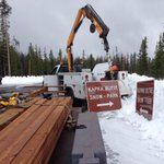 Starting to look official at Central Oregons newest sno park on the @DesNatlForest http://t.co/1sKs8CObUM