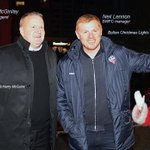 They followed a star, and so to Bolton they came, Super @JohnMcGinlay10, Neil Lennon #BWFC gaffer and #Santa ☺ http://t.co/lv1fWl8l0n