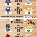 TODAY!! 3rd/4th place games and FINAL games Faculty Basketball League 2014 at GOR Pertamina UB. cc:@infoUB http://t.co/LoMC0ucRok