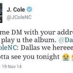 aye @JColeNC you lowkey tried to smash but wasnt expecting her kids to be up 😂 http://t.co/7OgfvC3Tye