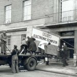 A computer being delivered in the 1950s. #tbt #defnotalaptop http://t.co/7S2StFqzJF