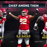The @KCChiefs like getting to the quarterback...a lot. #TNF http://t.co/1MTCOjA7FN