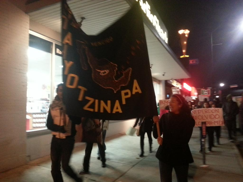 Marching in solidarity with the 43 missing Mexican students! #yamecanse #SLCconAyotzinapa #Ayotzinapa http://t.co/lHtuguKcLP