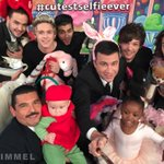 BEHOLD - the #CutestSelfieEver - watch #Kimmel tonight. @OneDirection http://t.co/C8fC8j34yc