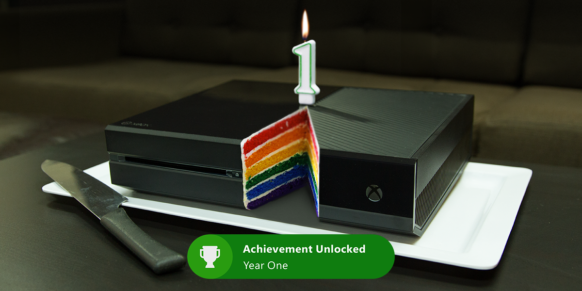 The Xbox One turns 1 today! RT if you want a slice. - Kronjob http://t.co/ohDJZZpq7a