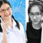 """สาวแว่นจากโฆษณาเปปทีน """"อยากเป็นหมอ"""" ตอนนี้เป็นสาวแล้ว น่ารักอ๊ะ http://t.co/UV6BwMBgul http://t.co/SRHlkAr3ow"""