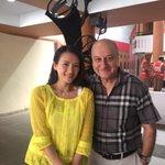 Wonderful to meet the beautiful Chinese actress Zhang Ziyi from Crouching Tiger..., Memories of a Geisha.:) #IFFI2014