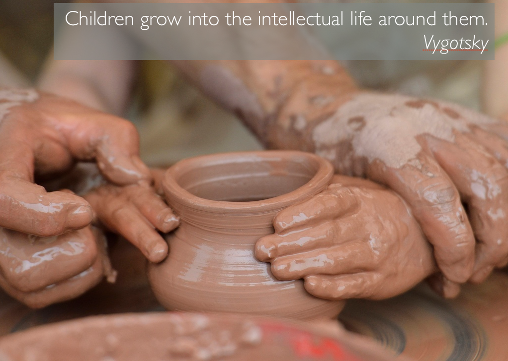 """""""Children grow into the intellectual life around them"""" - Vygotsky http://t.co/BkUihSvFzh"""