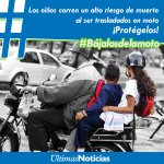 Los niños corren un alto riesgo de muerte al ser trasladados en moto ¡Protégelos! #Bájalosdelamoto Dale RT http://t.co/0lj4ivZjpA