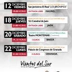 Fechas y ubicaciones de los próximos conciertos para esta Navidad http://t.co/ooTBLGFcCX