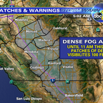 DENSE FOG ADVISORY for the Valley through 11 AM. Will affect the morning commute- be safe! #ABC30 http://t.co/47vhMjHTk3