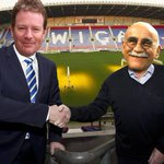 """As Dave """"Definitely Not Racist"""" Whelan, welcomes Malkay """"Only Banter"""" Mackay to Wigan, in an alternative universe.... http://t.co/Xc2nPPs8Tm"""
