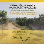 Diumenge 23 novembre, inauguració i passejada popular per la via verda Manacor-Artà. Units per la natura. Tesperam! http://t.co/5vvWgSafDO