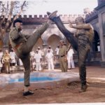 RT @ActorSriman: Seriously Please beliv I learned martial arts don't laugh ponnambalam and me in Telugu film DHARMA nambungappa