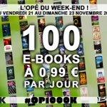 Ça commence : 100 e-books à 0,99€ ! RDV sur http://t.co/nnite1nBz6 pour suivre les liens de téléchargement #OP1000K http://t.co/bGYUDWuWWG