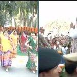 Rampur (UP): SP Chief Mulayam Singh Yadav at his Birthday Celebrations http://t.co/Di1CNy5QaL