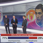 Who do YOU think is the best summer signing? Is it Sanchez or Di Maria - well debate this with our guests #SSNHQ http://t.co/fMkvdNyJZO