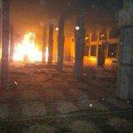 حتي مساجد الصابري لم تسلم  سوف تسألون يامن طبلتم ولازلتم لتدمير بنغازي بكرامتكم المزعومه http://t.co/LoRSKR9seN