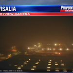 Fog becoming more dense right now in Visalia. Dense Fog Advisory lasting until 11:00AM with visibility near 100 ft http://t.co/gC36eaPQGL