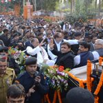 Mulayam Singh Yadav during the birthday bash in Rampur. http://t.co/C474Mzn9ps