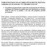 """Pablo Iglesias quería sólo plasma""""@mediasetcom:Pablo Iglesias no acudirá finalmente mañana a @UnTiempoNuevoTV http://t.co/HHVMPXUtWi"""" #casta"""