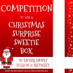 This months #competition is a Surprise XMAS Sweetie Box! Simply follow & RT to be in with a chance of winning!! http://t.co/NyyWW956mR