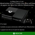 RT La #XboxOne a 1 an ! Si #XboxOneYear est en TT France, vous aurez une chance de gagner une Xbox One collector ! http://t.co/xC84CX1zch