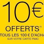 ✔ Cest le week end spécial adhérents. Bon plan, 10 € offerts tous les 100 €. dachats. #Fnac #Nantes #FnacNantes http://t.co/JcdgIzPM2f