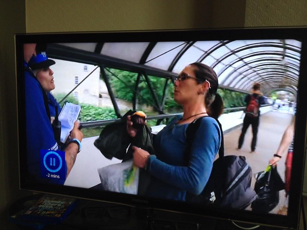 A new cop show based in Bath says this woman isn't actually homeless and earned about 20K last year. Scum. http://t.co/J6gttwZNFd