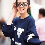 【スナップ】モデルのIrene KimさんをNYで撮影。トップスとスカートは「pushBUTTON」。 http://t.co/rnawCQ9NsM http://t.co/id361o7pxy