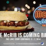 You might want to sit down for this... #theMcRibisback  31.12.14 - 03.02.15. Served from 10.30am. http://t.co/RN2CEeGJsh