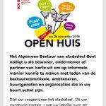 Bent u bewoner of ondernemer @Stadsdeel_Oost? Kom 26/11 tussen 17-20u naar het Open Huis! http://t.co/Q1bgqMNdCE http://t.co/vMOwL5uoKe