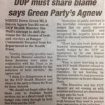It is disingenuous of the DUP to blame reduction of services at @bangorhospital on the Health Trust -@StevenAgnew http://t.co/NP4Fix5GpT