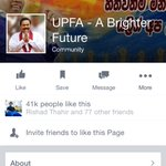 #UPFA fb page which has 41k likes and which promoted MR even yesterday now promotes Maithripala Sirisena! #PresPollSL http://t.co/leOsOskIWL