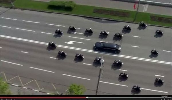 APEC Photo of the Day. RT @Marc_Leibowitz: Photo of Vladimir Putin's motorcade. Posted without comment. http://t.co/2P1SITRVKI