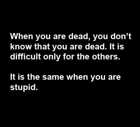Death and Stupidity... http://t.co/zj9vluDip6