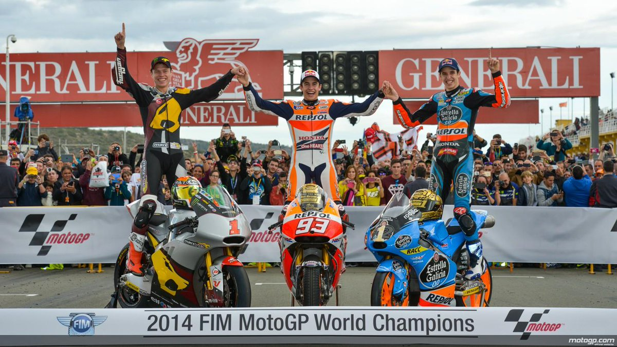 El millor final de temporada possible @marcmarquez93 @TitoRabat @alexmarquez23  #triplet #gparc1 http://t.co/7Gd1SoZlfT