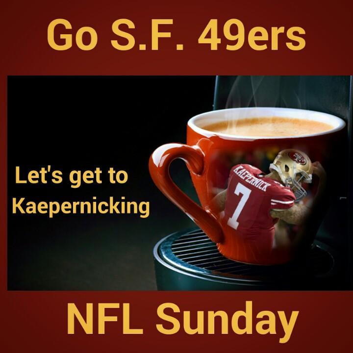 Go @49ers @Kaepernick7 @NinersNation  #Niners #NFLSunday  @NFLonFOX  #49ers vs #Saints #JimHarbaugh http://t.co/jbrrQGkhkC