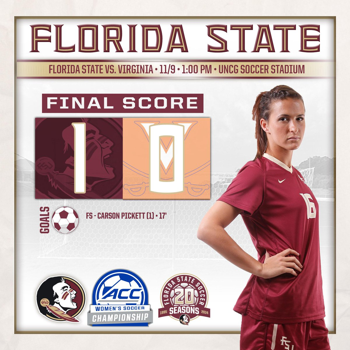 Final Score from Greensboro Your #Noles are 2014 ACC Champions!!!! Back-to-back league titles for the #Noles! http://t.co/mvzMA3Rt95