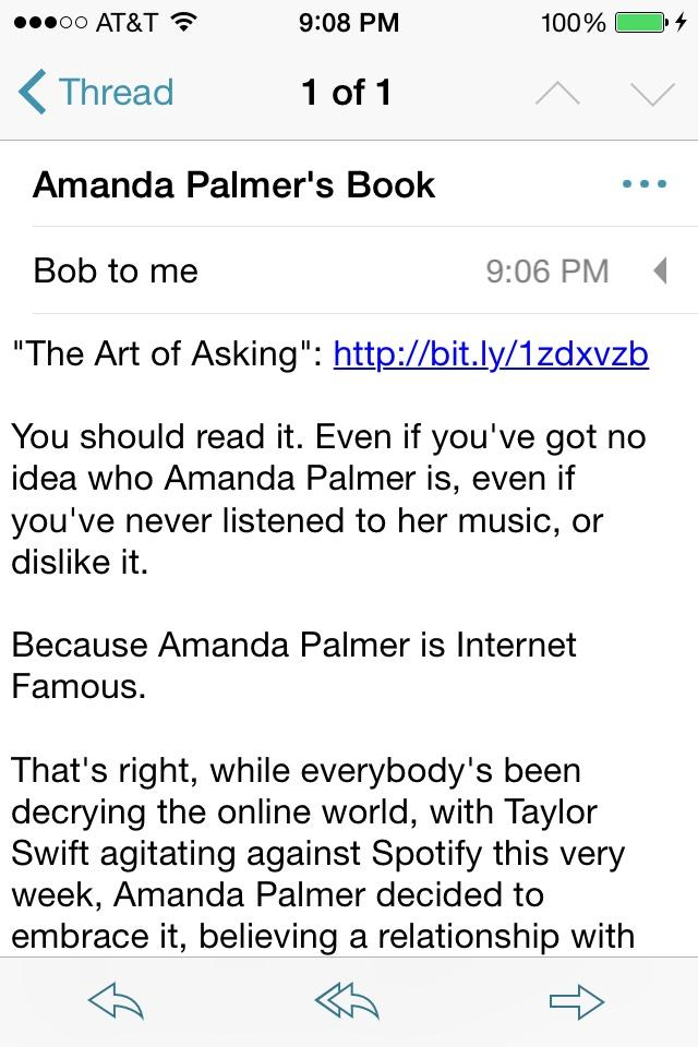 "If you're subscribed, check your email for the new @Lefsetz Letter, ""@AmandaPalmer's Book""… http://t.co/eEiDnHAM3p http://t.co/EGpeOKf6y2"