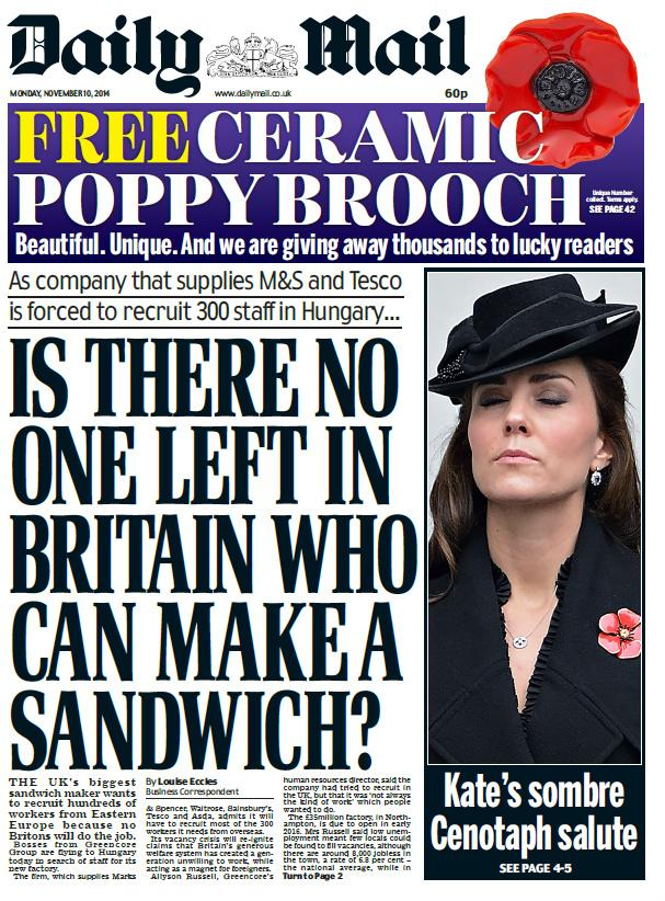 Британцы проводят флешмоб против мигрантов (ФОТО)