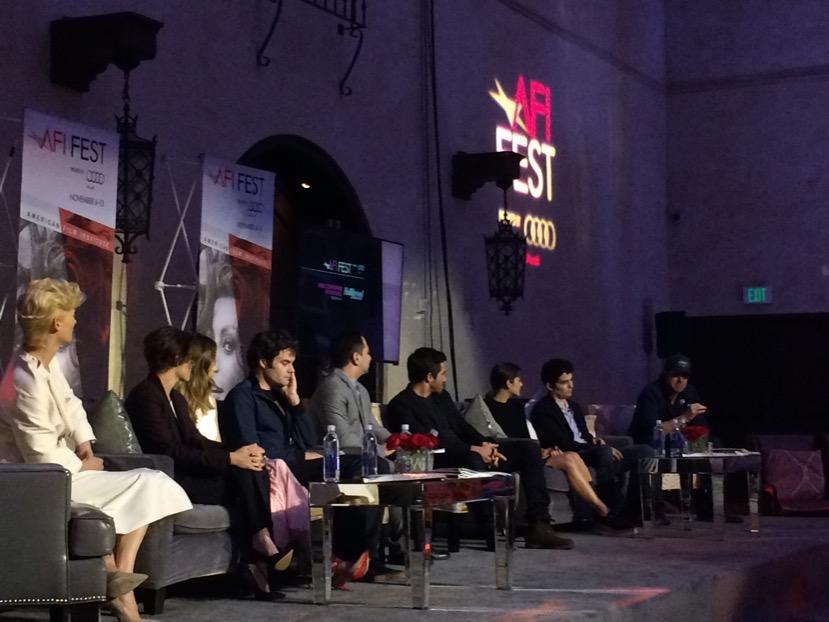 From left, Swinton, K. Stew, Michelle Monaghan, Hader, Feinberg, Gyllenhaal, Cotillard, Chazelle, Chandor. Whew! http://t.co/sBm9M1qX7i