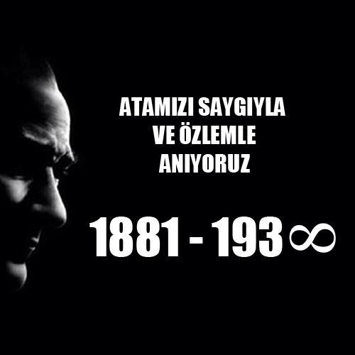Büyük Önder Mustafa Kemal Atatürk'ü vefatının 76. yıldönümünde saygıyla anıyoruz. http://t.co/SrW8x080B2