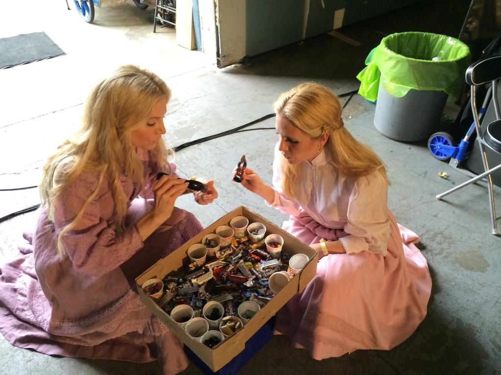 Sisters who share a love of candy. They let me and #ElizabethMitchell loose on the sweets!!!!! http://t.co/mCQdScugME
